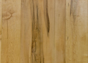 natural maple with some staining