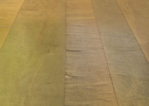 mineral stained wide maple floor
